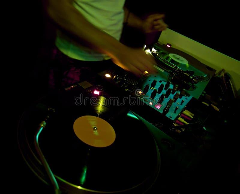 Il DJ al randello fotografia stock libera da diritti
