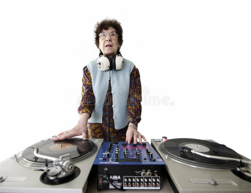 Il DJ anziano fotografie stock