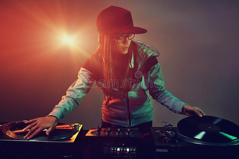 Il DJ d'avanguardia fotografie stock libere da diritti