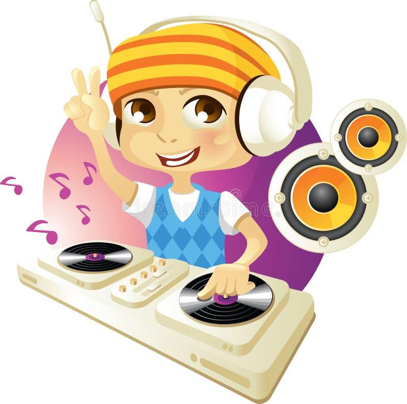 Il DJ divertente royalty illustrazione gratis