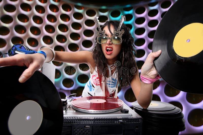 Il DJ freddo fotografia stock