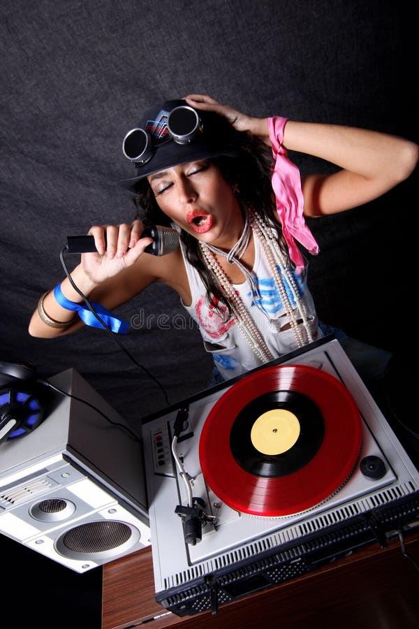 Il DJ freddo nell'azione fotografie stock libere da diritti