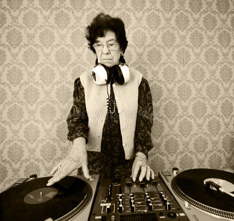 Il DJ maggiore fotografia stock libera da diritti