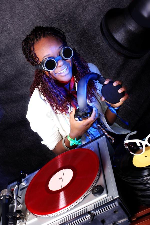 Il DJ nell'azione fotografie stock