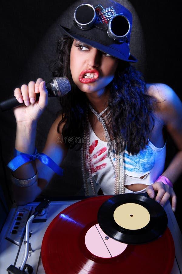 Il DJ nell'azione fotografia stock libera da diritti