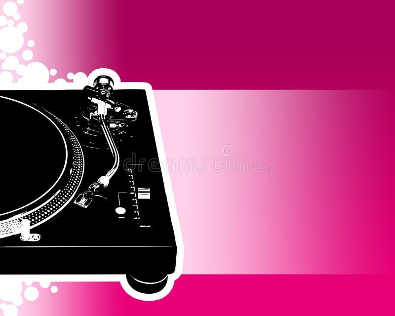Il DJ party l'aletta di filatoio 03 illustrazione vettoriale