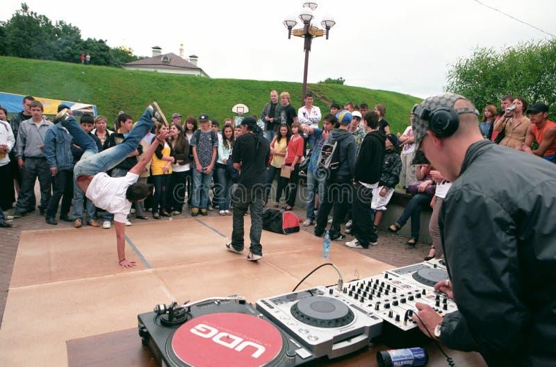 Il DJ per il fader la scheda. fotografie stock