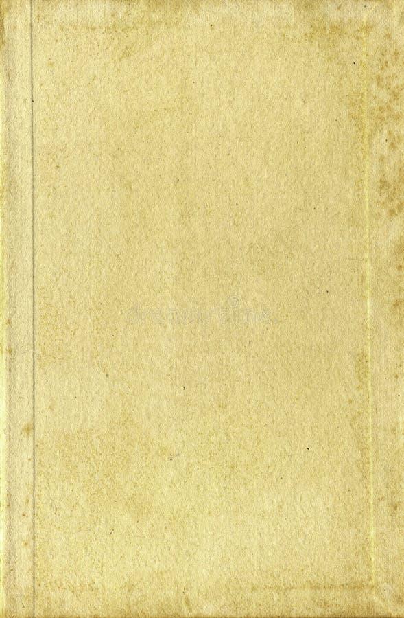 Il documento della copertina di vecchio libro pagina le strutture fotografia stock