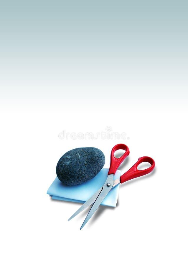 Il documento scissors la roccia fotografia stock