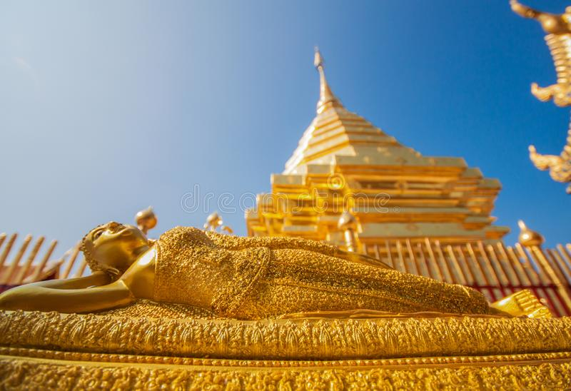 Il Doi sbalorditivo Suthep Shrine, Chiang Mai thailand immagine stock