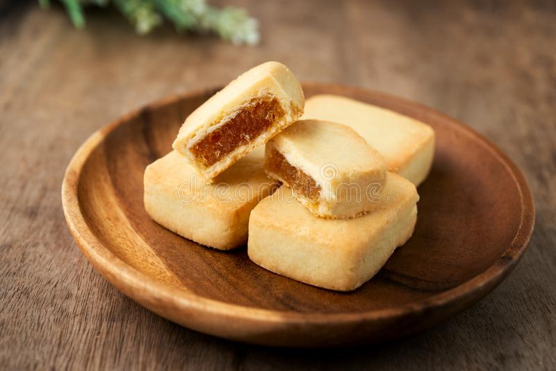 Il dolce dell'ananas è dessert famoso di Taiwan fotografia stock libera da diritti