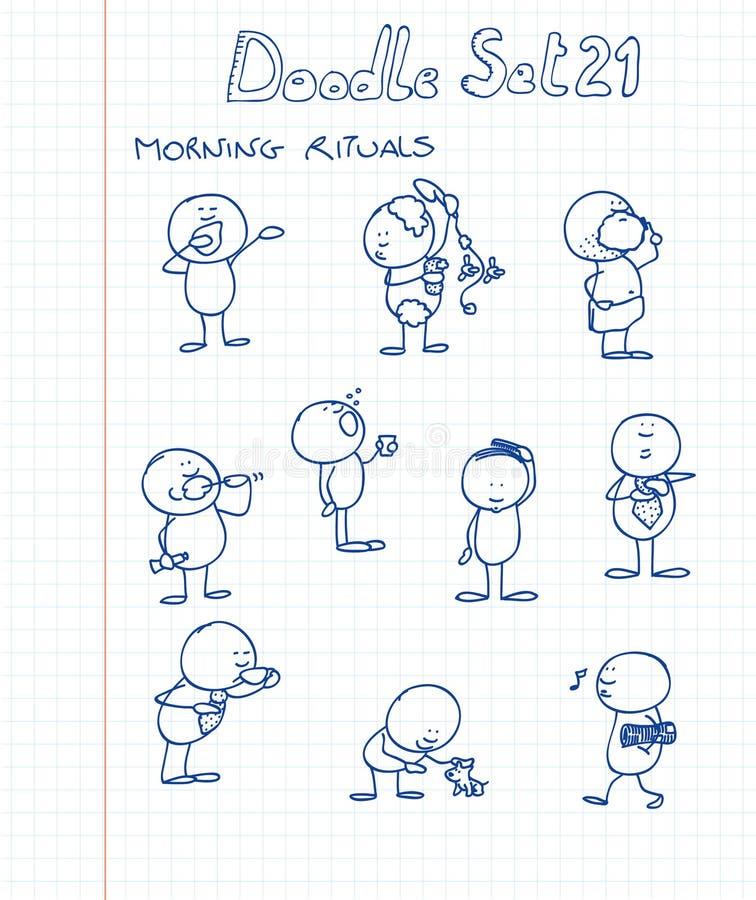 Il Doodle ha impostato 21 illustrazione di stock