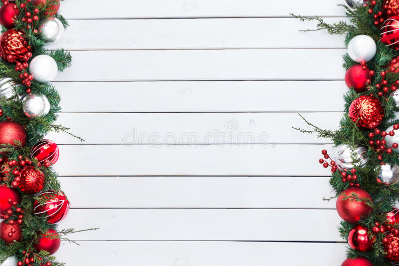 Il doppio ha parteggiato confine festivo di Natale fotografie stock libere da diritti