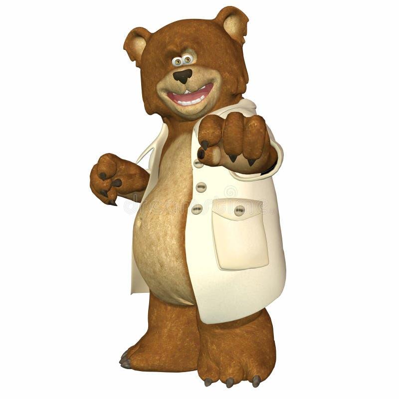 Il dottore Bear royalty illustrazione gratis