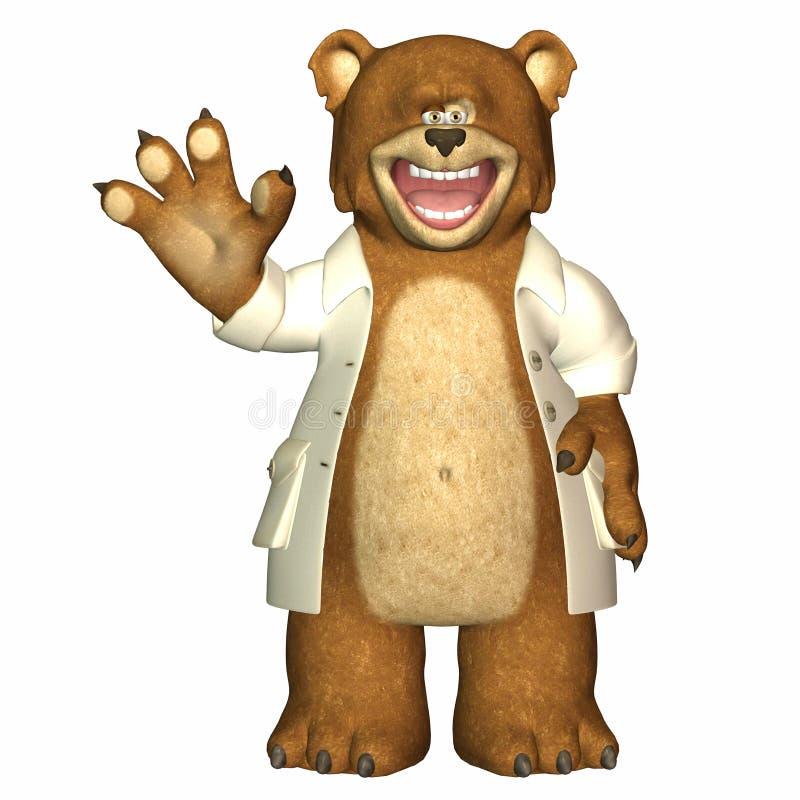 Il dottore Bear illustrazione vettoriale