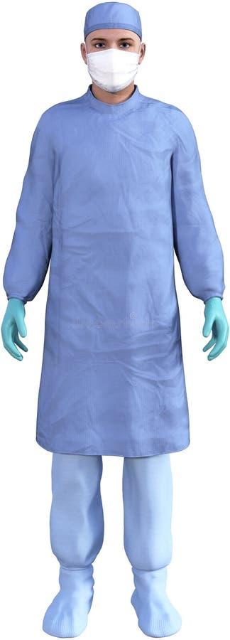 Il dottore Medical Worker Isolated del chirurgo illustrazione di stock