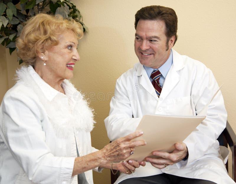 Il dottore paziente Discussion fotografia stock libera da diritti