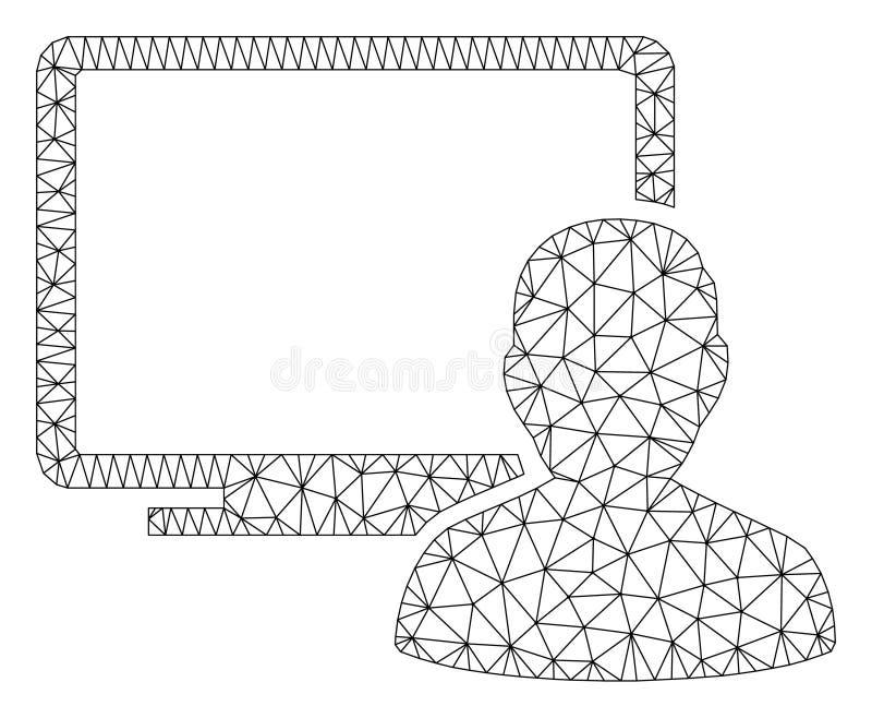 Il dottore Polygonal Frame Vector Mesh Illustration del computer illustrazione di stock