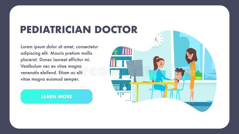 Il dottore Specialist Hospital Cabinet del pediatra royalty illustrazione gratis