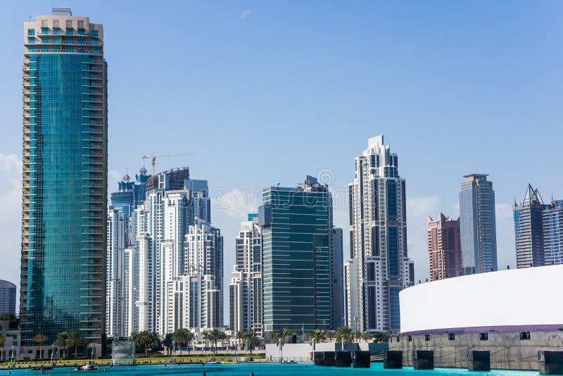Il Dubai del centro immagine stock