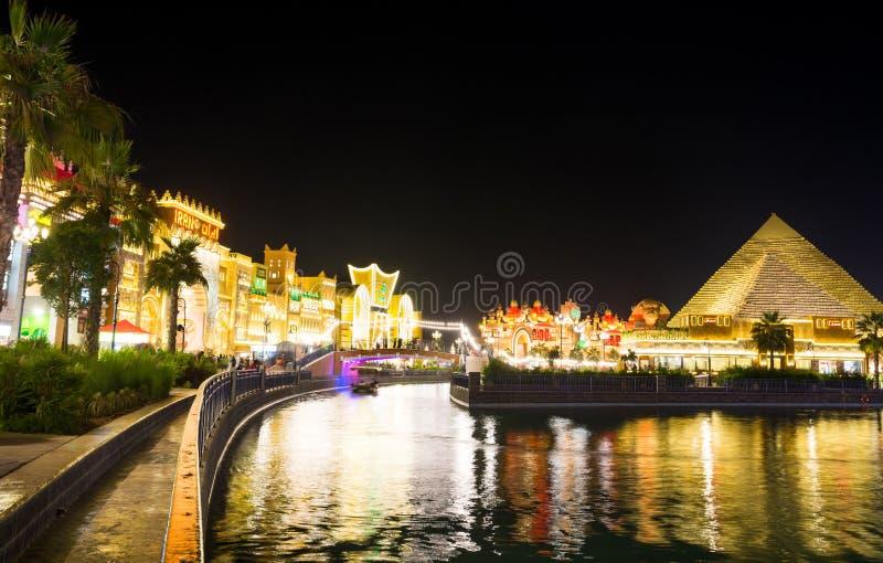 IL DUBAI, EMIRATI ARABI UNITI - 6 NOVEMBRE 2017: Villaggio globale a immagine stock libera da diritti