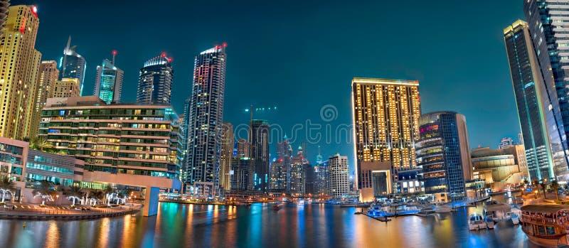 Il Dubai Marina Panoramic View fotografia stock