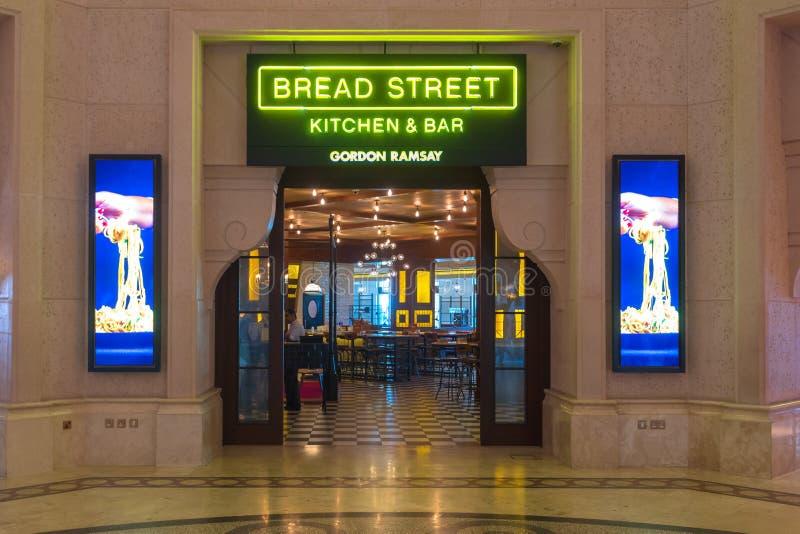 IL DUBAI, UAE - 12 NOVEMBRE 2018: Gordon Ramsey Restaurant ha individuato nell'hotel di Atlantide nel Dubai, UAE fotografie stock libere da diritti