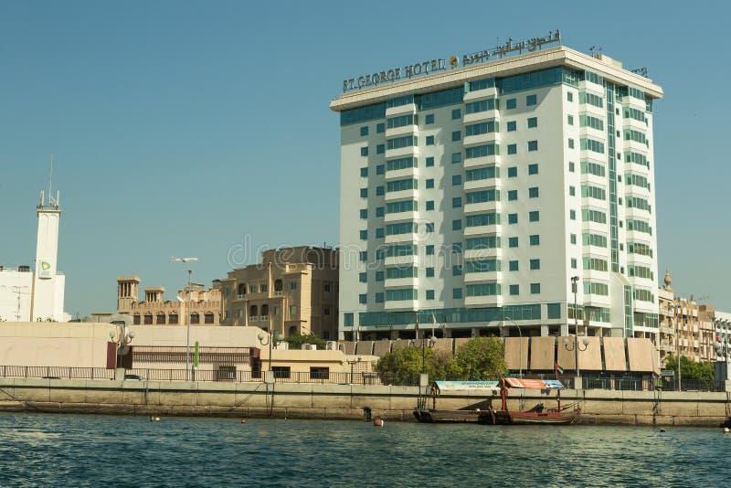IL DUBAI, UAE - 10 NOVEMBRE 2016: St dell'hotel George sulla vecchia città Deira Dubai fotografia stock libera da diritti