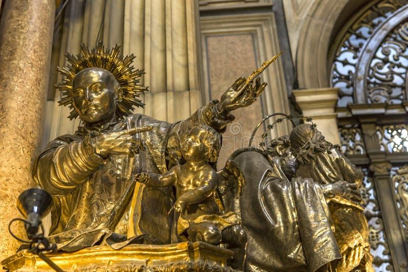 Il duomo, cattedrale di Napoli, campania, Italia fotografie stock libere da diritti