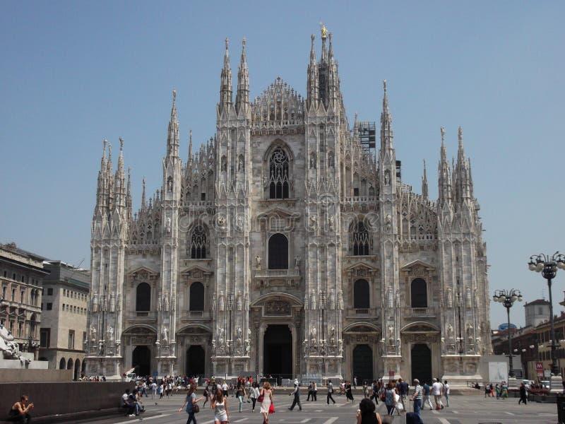 Il Duomo, katedra/, Mediolan, Włochy zdjęcie royalty free