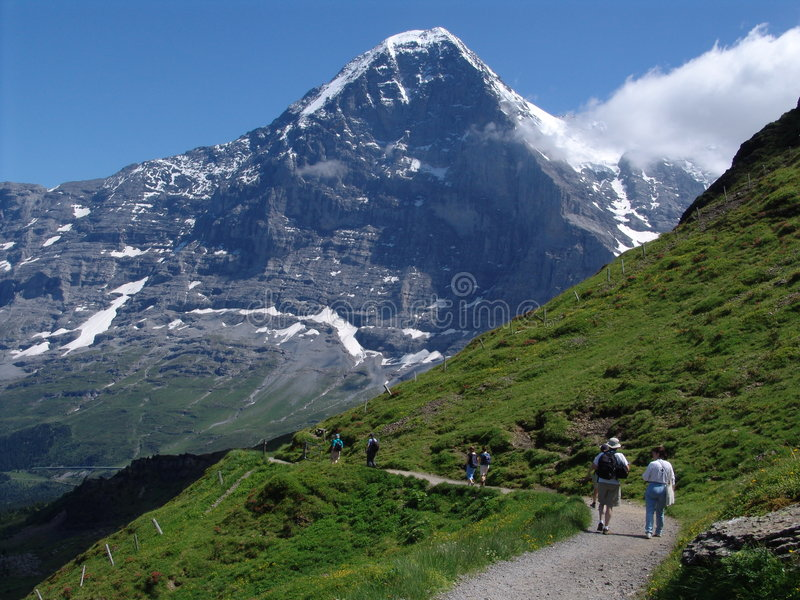 Il Eiger vigoroso fotografia stock