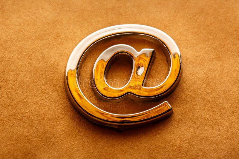 Il email internazionale firma dentro il primo piano fotografia stock libera da diritti