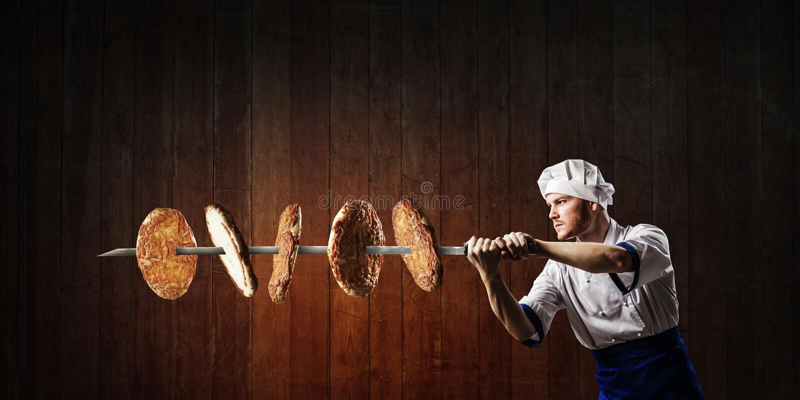 Il est fou de cuisine Médias mixtes photographie stock libre de droits