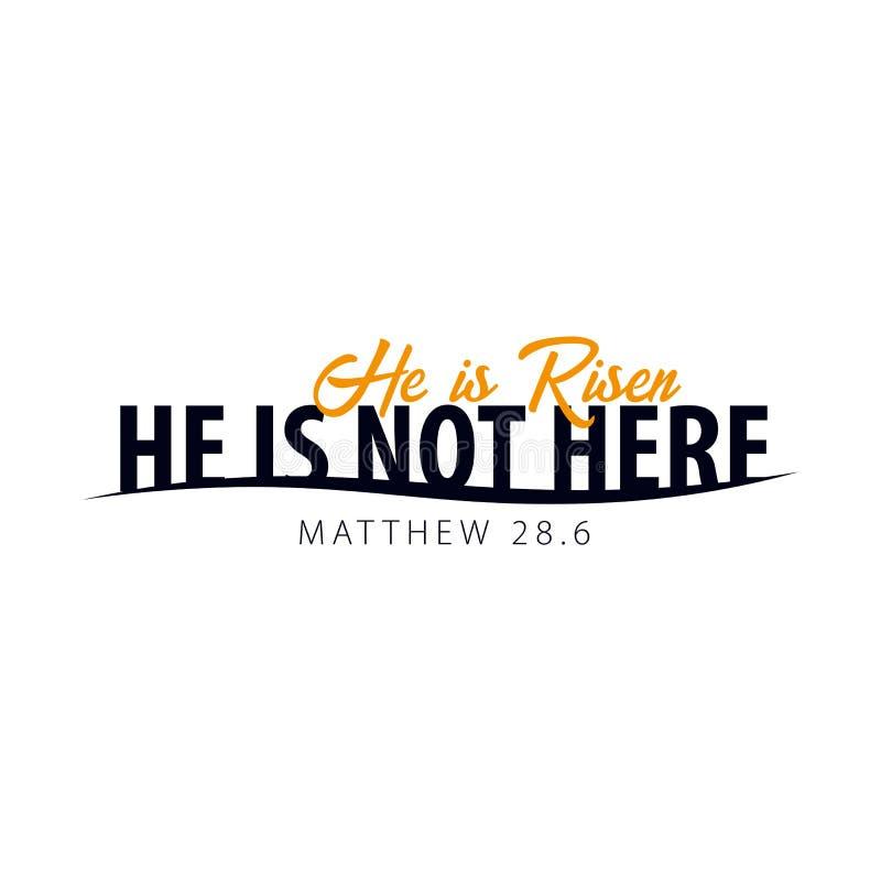 Il est levé Logo, emblème, labels ou autocollants de Pâques d'église Dessins de vecteur illustration stock