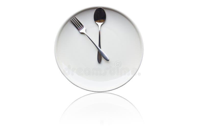 Il est temps pour le déjeuner image stock