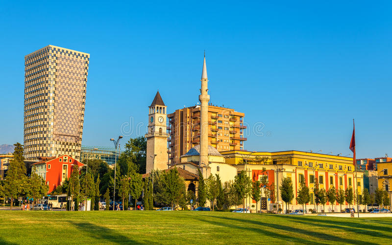 Il Et'hem Bey Mosque a Tirana immagine stock libera da diritti