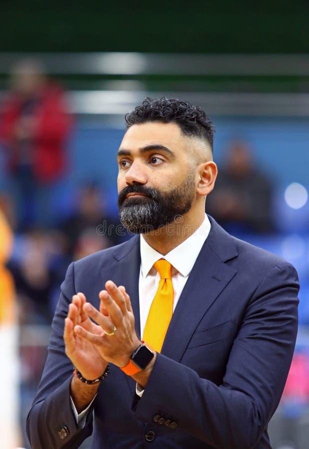 Il EuroBasket 2019 delle donne di FIBA: L'Ucraina v Paesi Bassi fotografia stock libera da diritti
