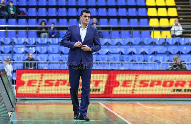 Il EuroBasket 2019 delle donne di FIBA: L'Ucraina v Paesi Bassi immagine stock libera da diritti