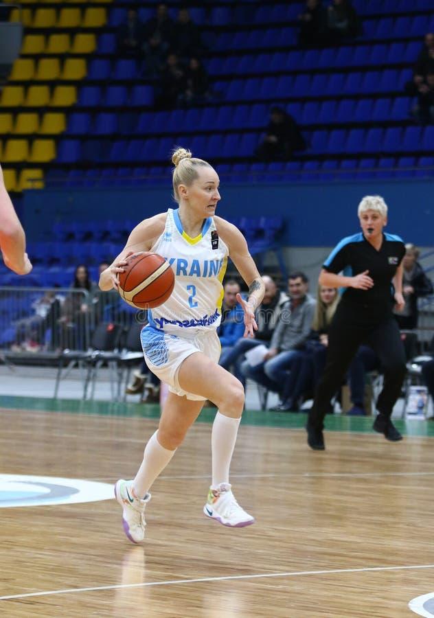 Il EuroBasket 2019 delle donne di FIBA: L'Ucraina v Paesi Bassi immagini stock