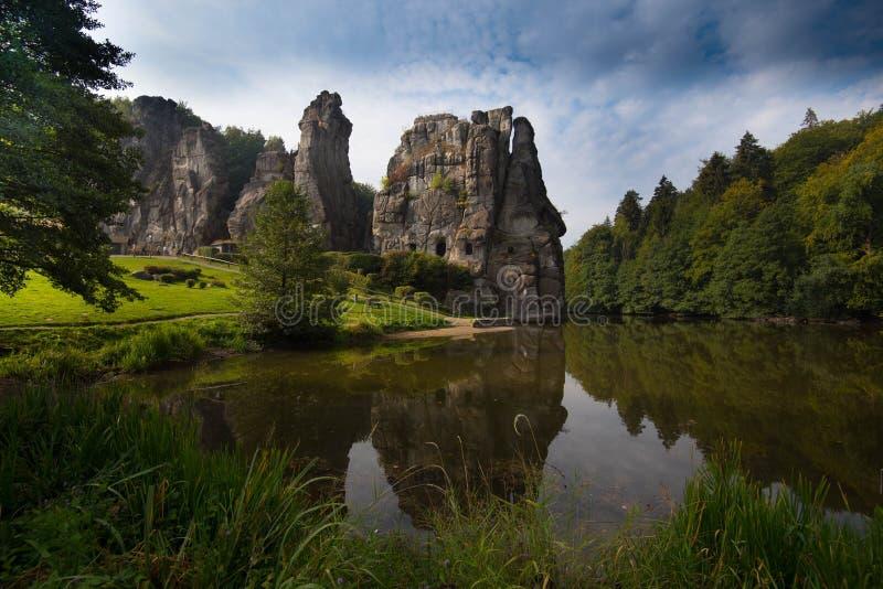 Il Externsteine in Germania fotografia stock libera da diritti