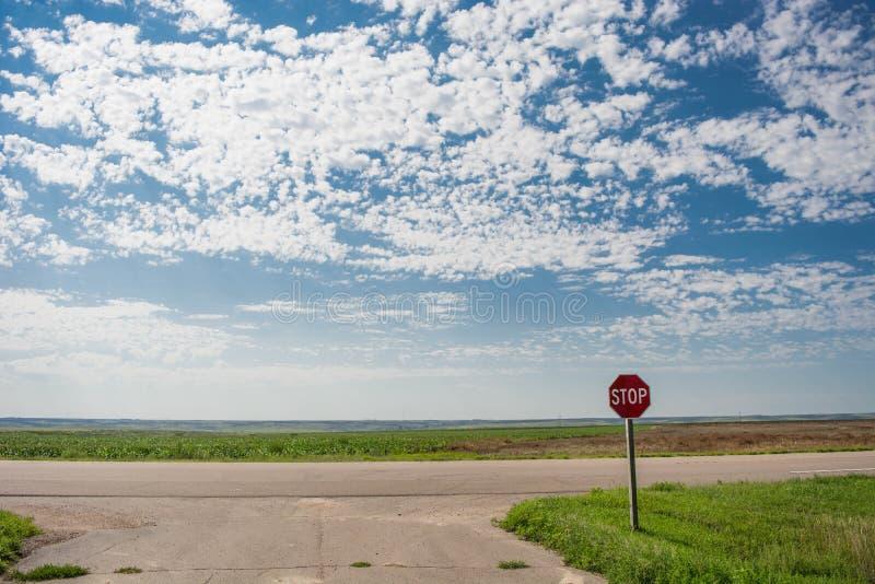 Il fanale di arresto sotto il cielo nuvoloso immagine stock libera da diritti