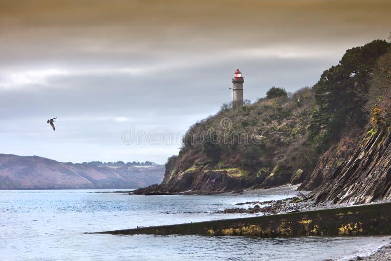 Il faro del canale di Brest fotografie stock libere da diritti