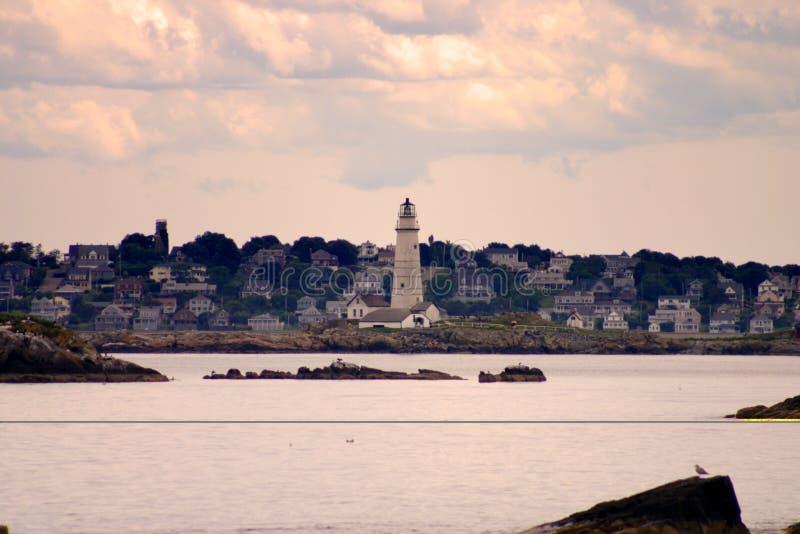 Il faro del porto di Boston è il più vecchio faro in Nuova Inghilterra fotografia stock