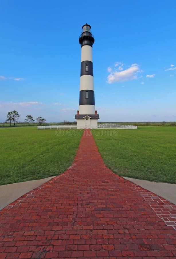 Il faro di Bodie Island sulle banche esterne della Nord Carolina fotografia stock libera da diritti
