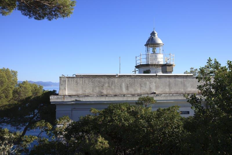 Il faro di Portofino, Genova, Liguria, Italia fotografie stock