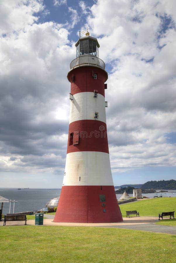 Il faro di Smeaton, zappa di Plymouth fotografie stock libere da diritti