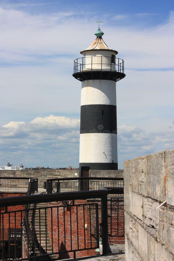 Il faro visto a Portsmouth fotografie stock