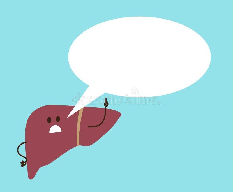 Il fegato malato del fegato esprime il parere sui precedenti illustrazione vettoriale