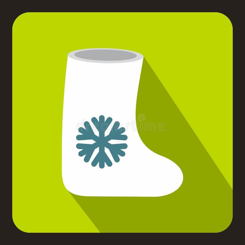 Il feltro inizializza l'icona, stile piano illustrazione di stock