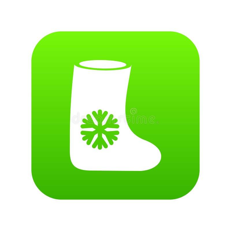 Il feltro inizializza il verde digitale dell'icona illustrazione vettoriale